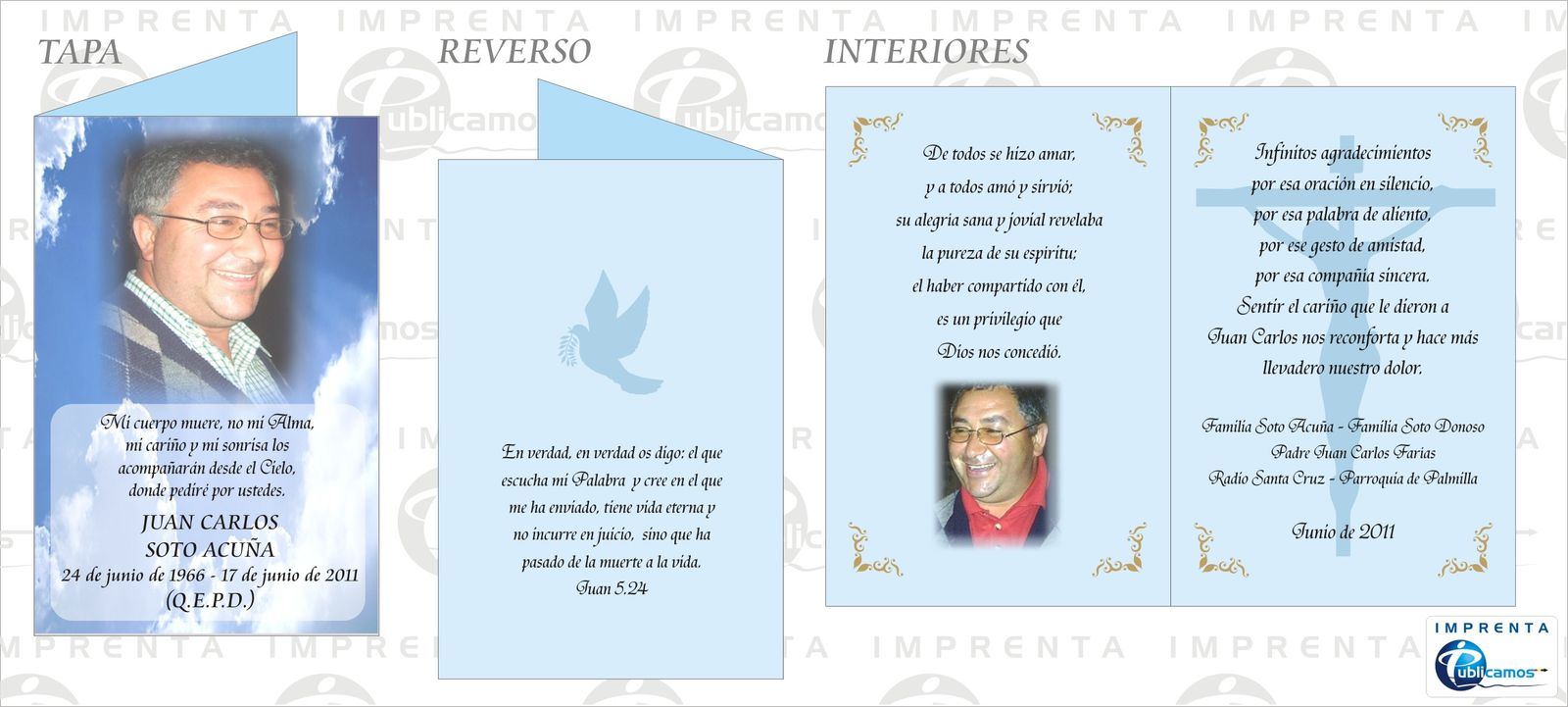 Modelos y Diseños de Tarjetas de Agradecimiento de Condolencia ...