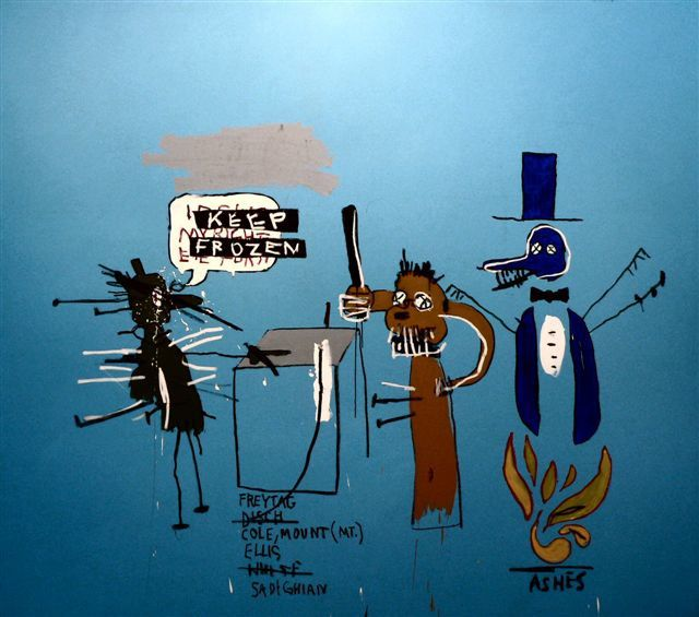 Jean-Michel Basquiat - The Dingoes That Park Their Brains w