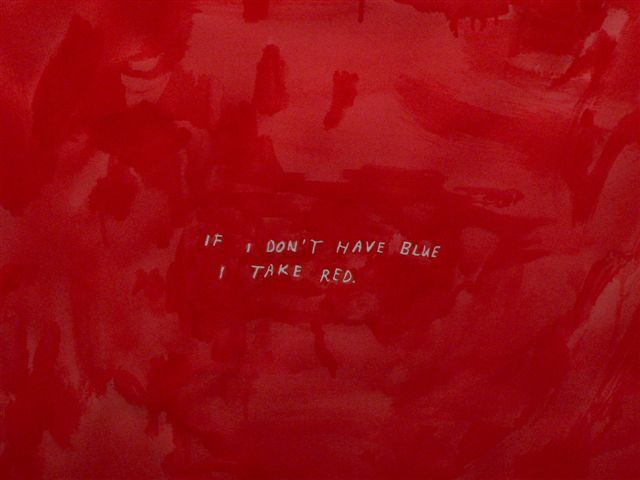 Marijn van Krij - 'If I don't have blue, I take red' - 2008