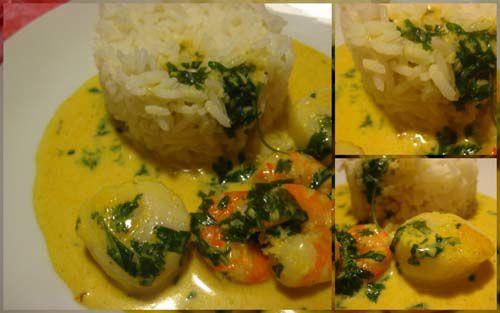 Curry de saint jacques et de crevettes hum a sent bon - Saint jacques au curry ...