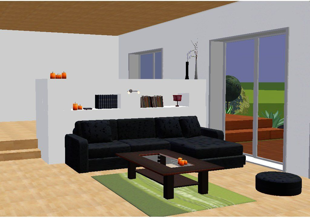 une cloison en 3d du design la r alisation all e des charmilles. Black Bedroom Furniture Sets. Home Design Ideas