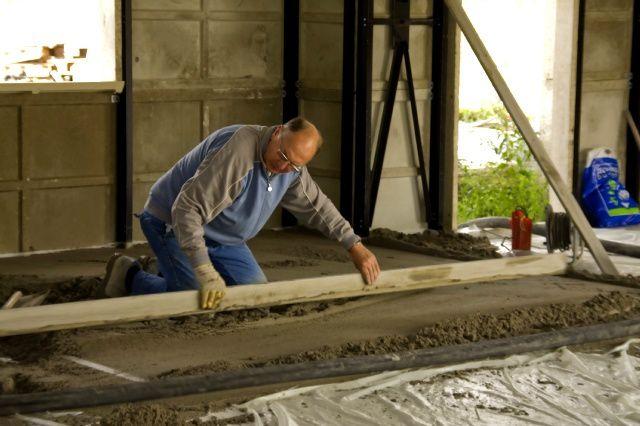 pose de la chape suivez la construction de notre maison ph nix dans le 57. Black Bedroom Furniture Sets. Home Design Ideas