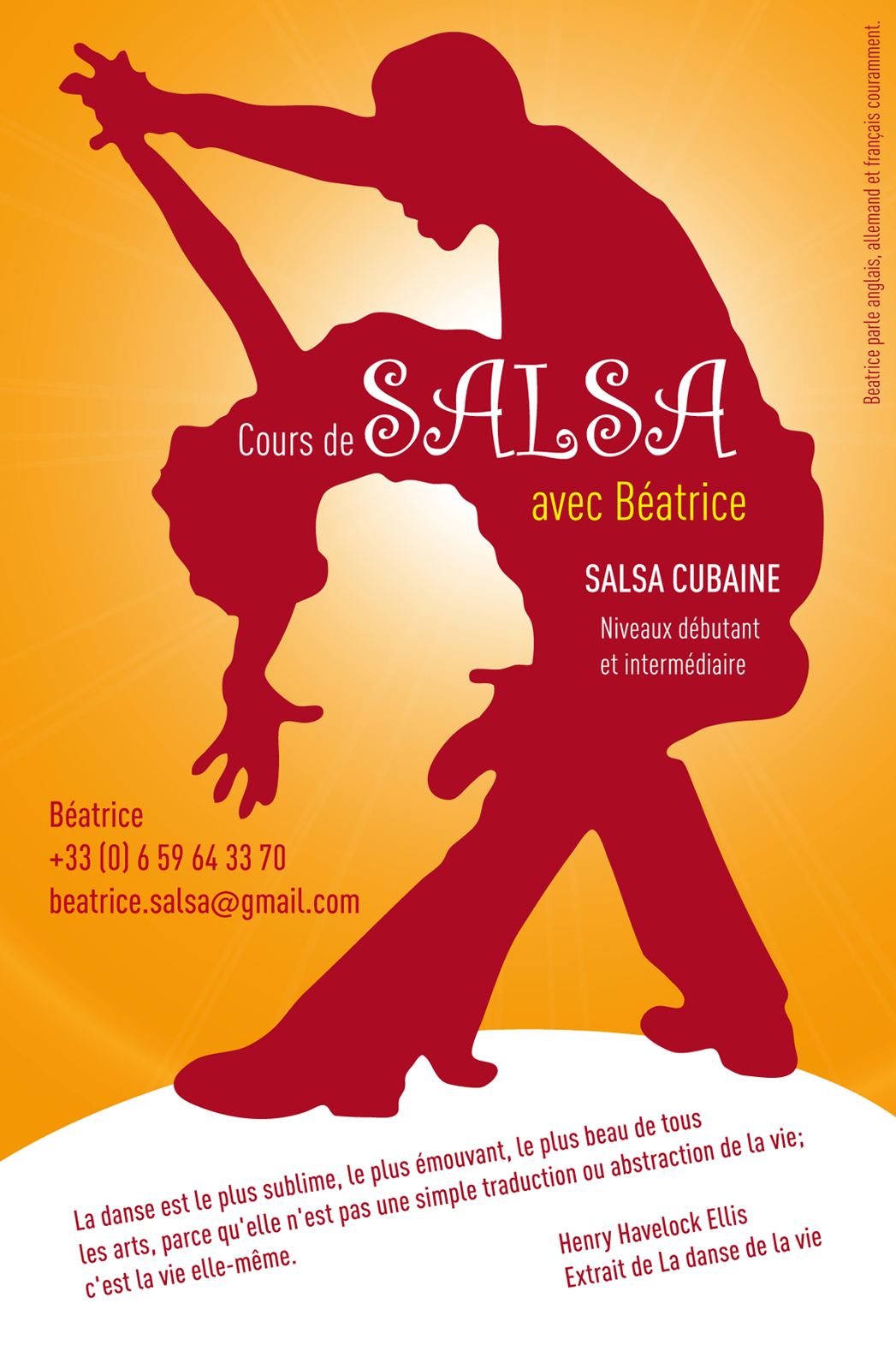 flyer bea front