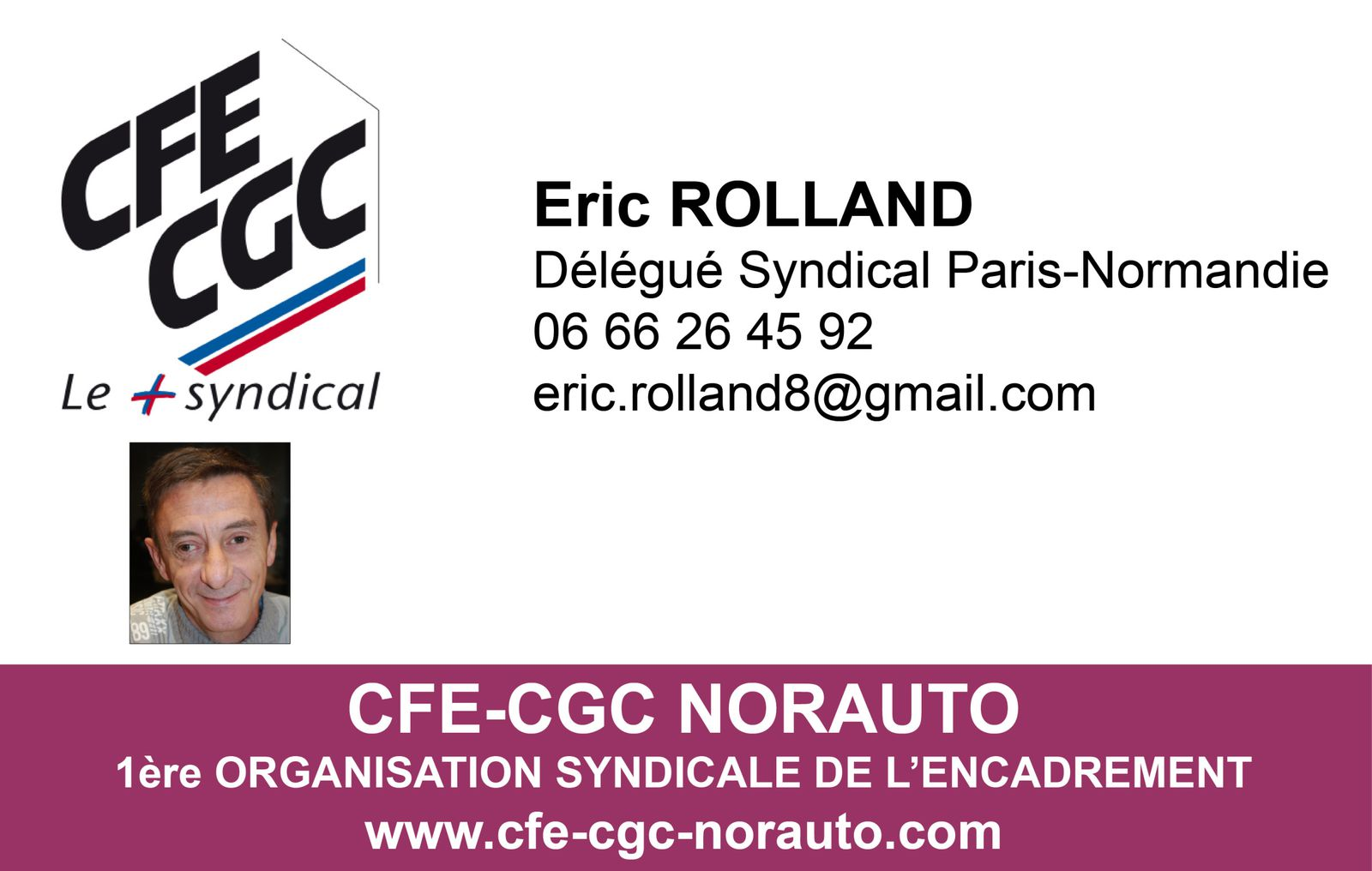 eric rolland d 233 l 233 gu 233 syndical central adjoint