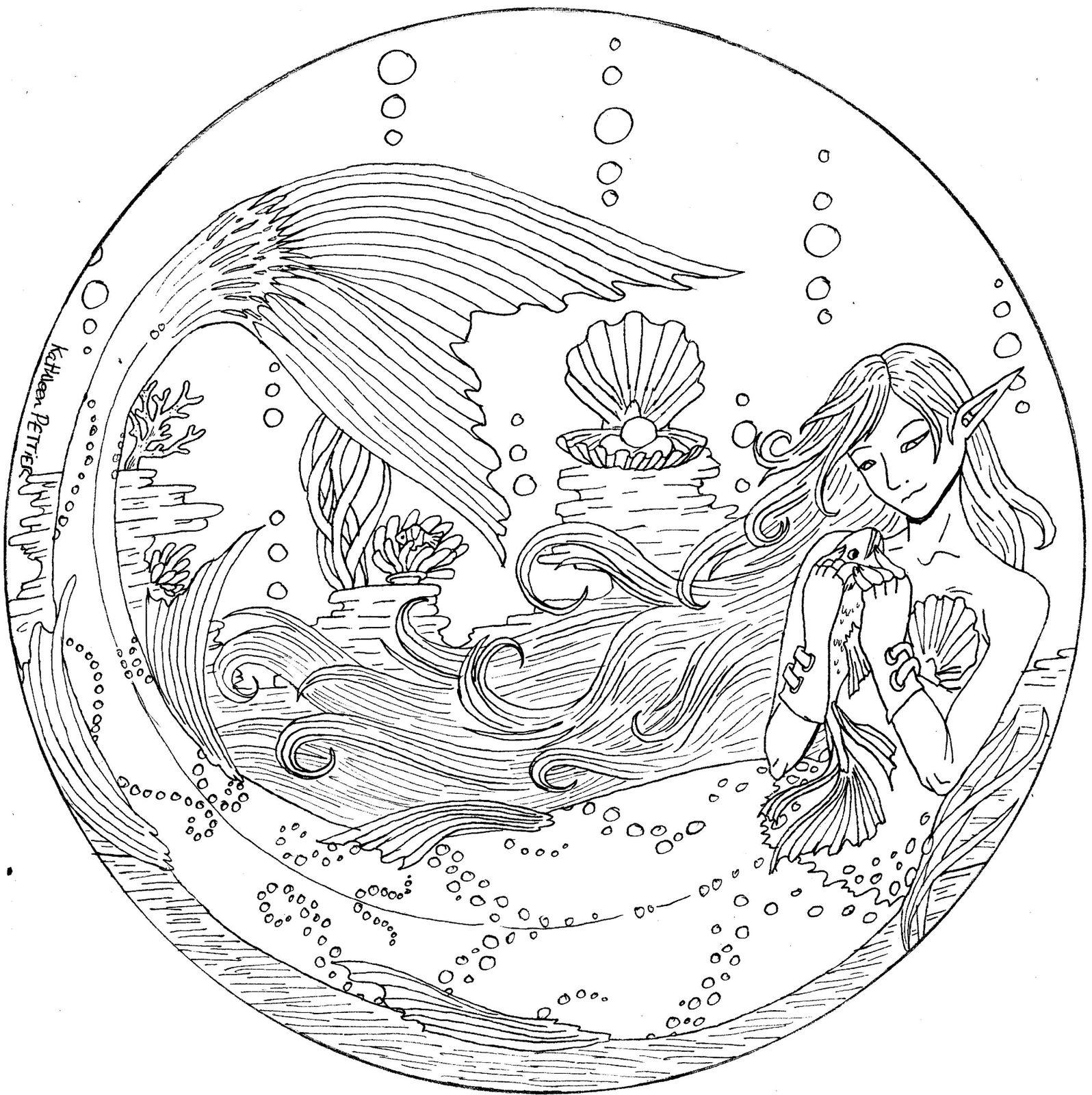 Fantasy tricoty le blog tricot - Dessin de sirene facile ...