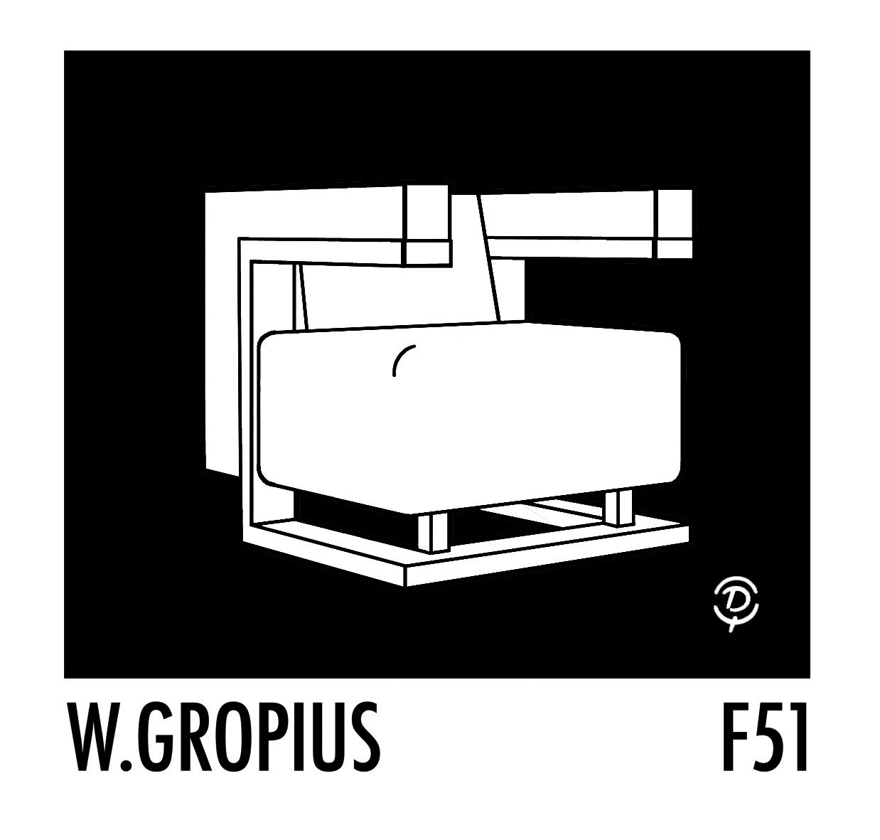 bauhaus f51 par walter gropius delius. Black Bedroom Furniture Sets. Home Design Ideas