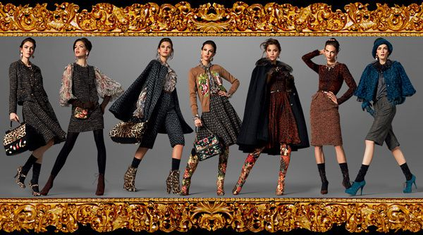 Dolce and Gabbana tapestry boucle baroque fw 13