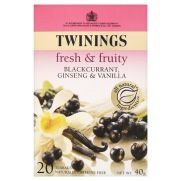 Twinings Blackcurrant, Ginseng & Vanilla, teabags 20S