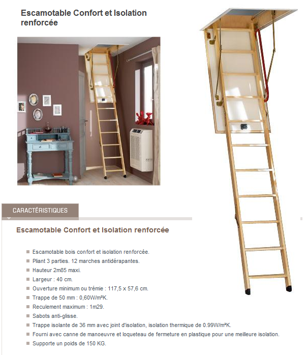 J 176 9 nov mise en place de l 39 tanch it l 39 air des combles le - Escalier escamotable lapeyre ...
