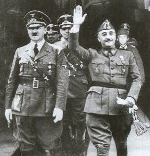 fransisco franco y adolf hitler