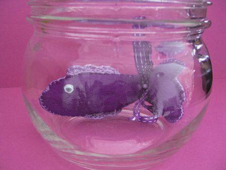 Poisson en feutrine le blog de tricotbel for Quoi mettre aquarium poisson rouge