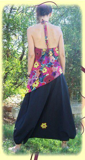 sarouel tunique fleurs 1