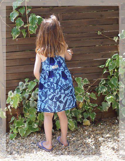 robe africaine bleue 5
