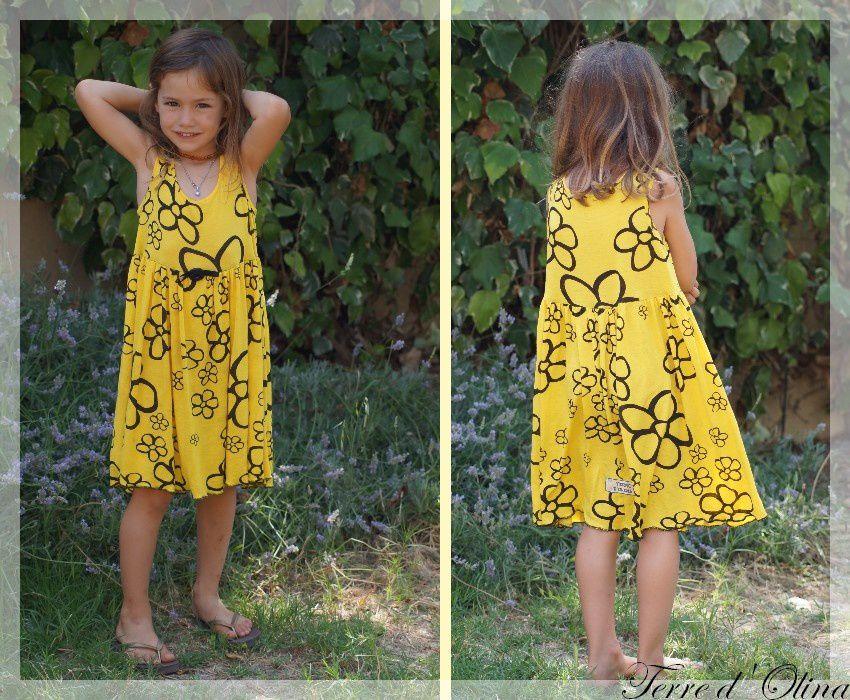 robe jersey jaune 9