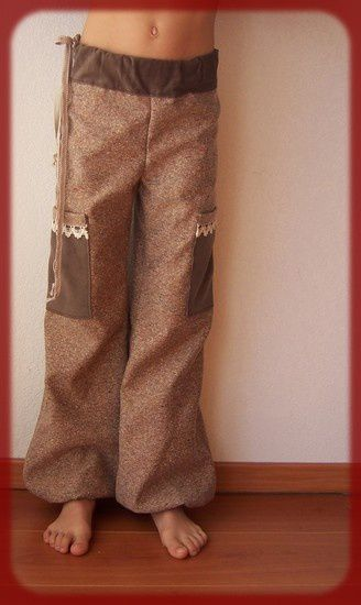 pantalon marron velour dentelle 7