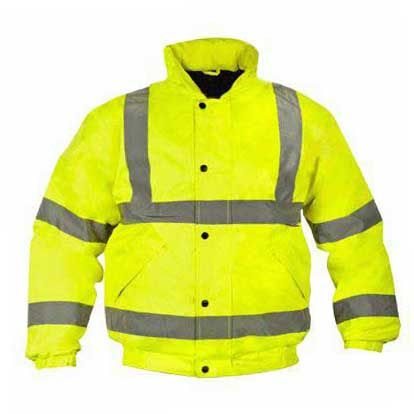 hi vis bomber yellow