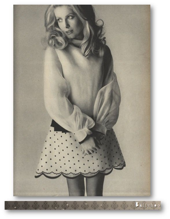 fashion ballyhoo - Catherine Deneuve Vogue Mars 1968