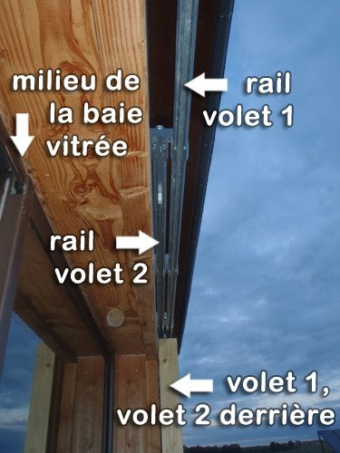 Rails doubles volets coulissants