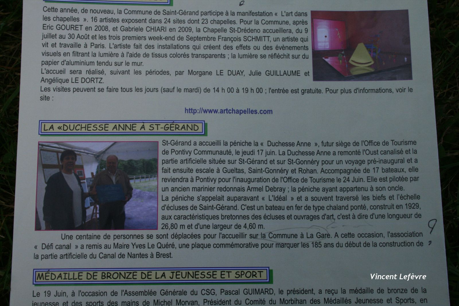 PHOTO + ARTICLE BULLETIN ST GERAND 17 06 10
