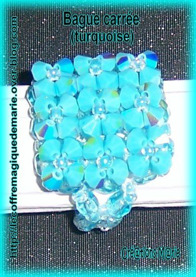 bague carree turquoise 2