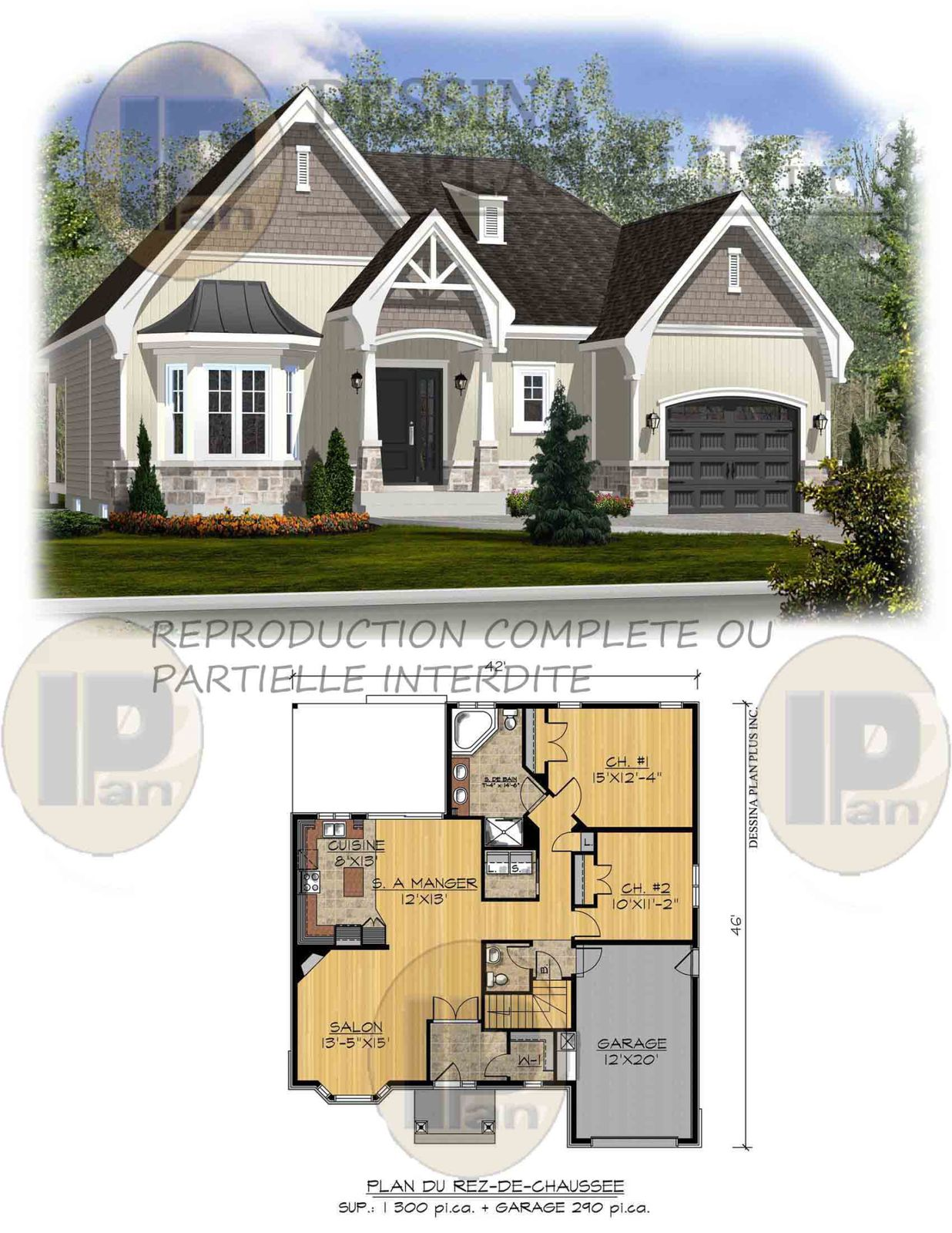plans vendre bungalow dessina plan plus inc