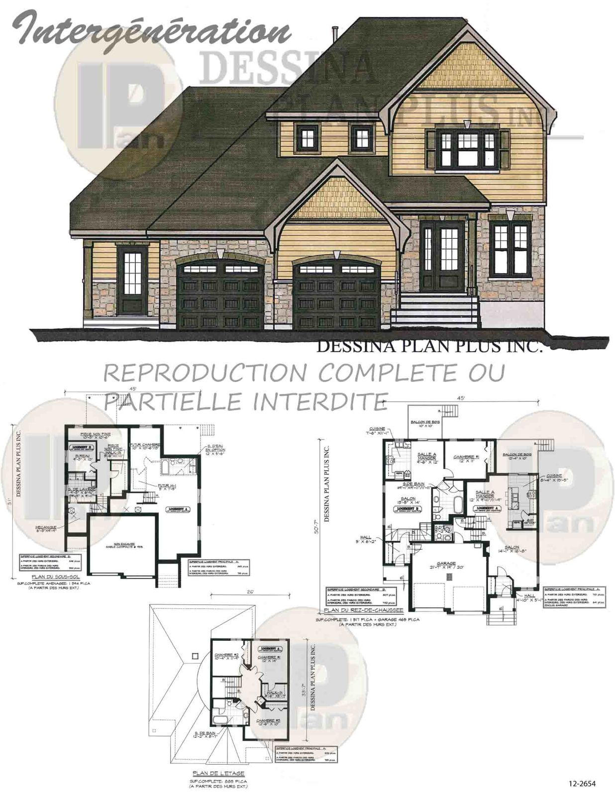 Plan maison intergeneration for Design maison
