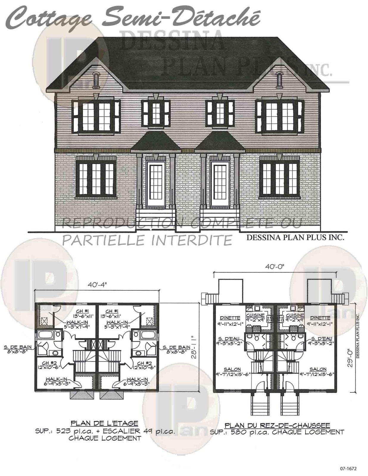plans vendre multifamiliale dessina plan plus inc