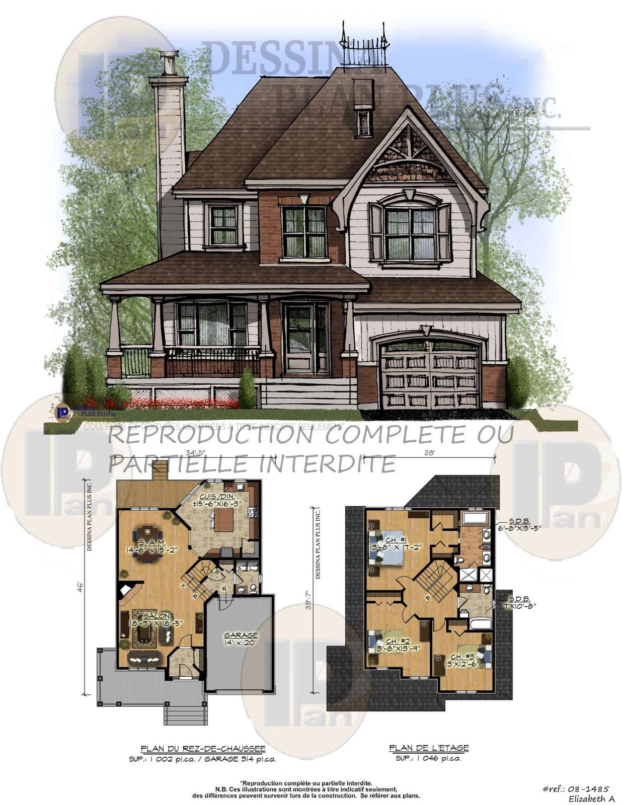 Plans vendre cottage dessina plan plus inc for Plan d agrandissement de maison