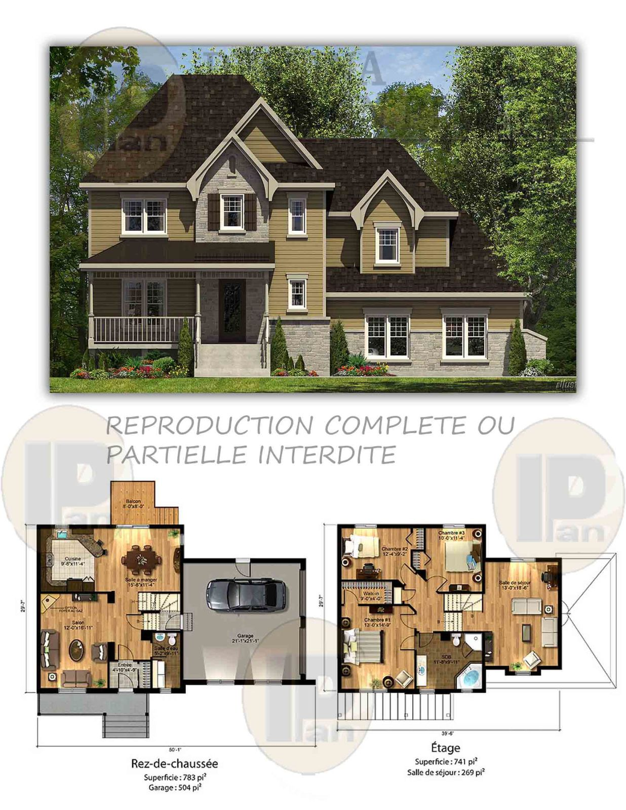 plans vendre cottage dessina plan plus inc