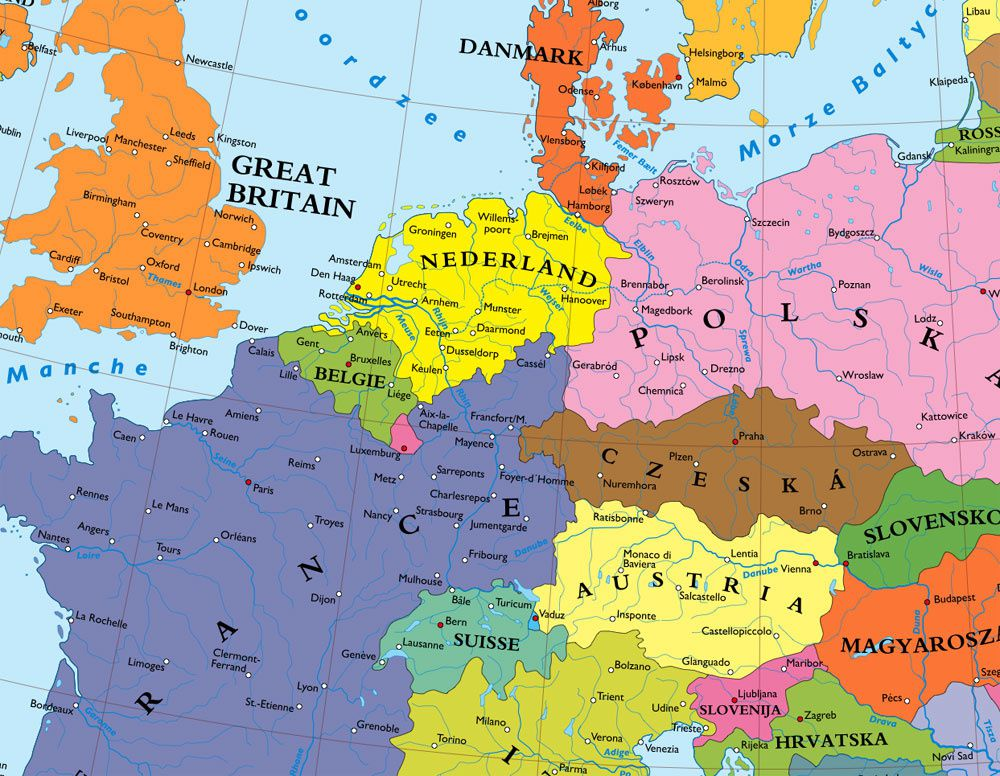 places germany scandinavia central europe german political geography