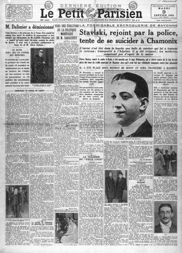 affaire stavisky 1934 le petit parisien