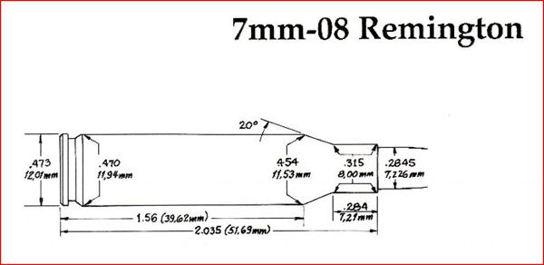 7-08-Remington dimensions