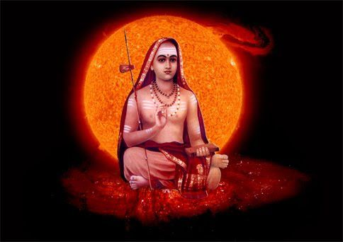 Adi Sankara with Sun