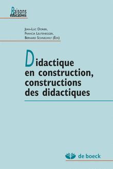Didactique en construction