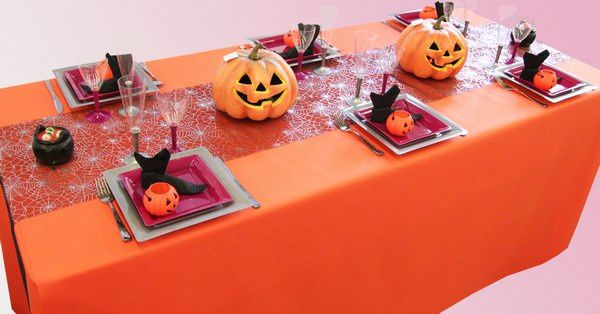 d coration de table halloween citrouilles d corations f tes. Black Bedroom Furniture Sets. Home Design Ideas
