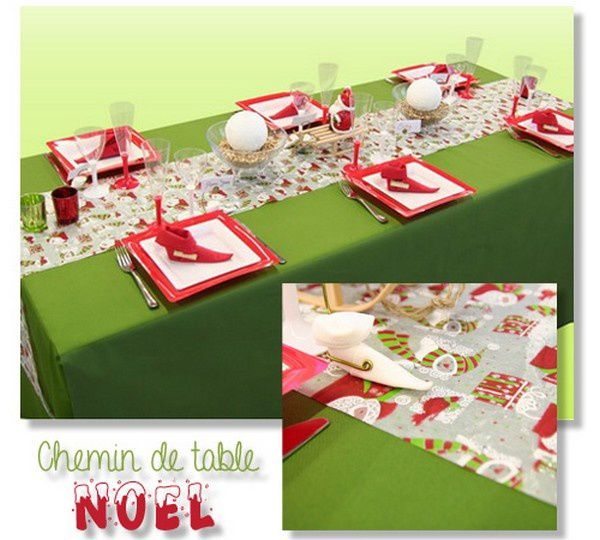 A re d couvrir le chemin de table sp cial no l - Chemin de table de noel ...