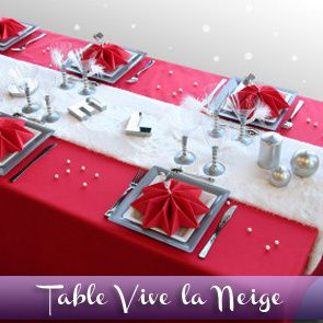 Sommaire des id es de d corations de tables le blog d - Decoration de table rouge et blanc ...