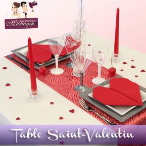 Sommaire des id es de d corations de tables d corations for Deco table st valentin