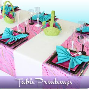 Sommaire des id es de d corations de tables d corations - Decoration table printemps ...