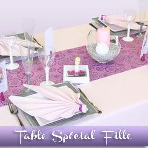 Sommaire des id es de d corations de tables d corations - Decoration de table pour communion fille ...