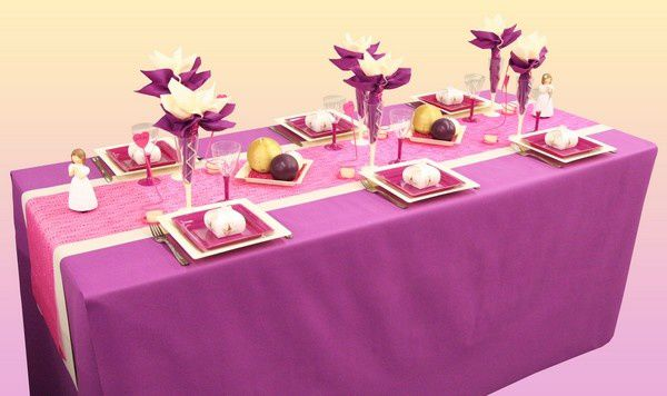 Une d coration de table de communion sp cial fille - Idee decoration de table pour communion fille ...