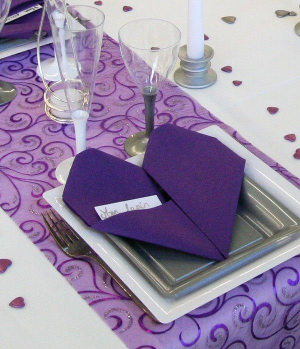 D corations de table pour la saint valentin d corations - Table de saint valentin ...