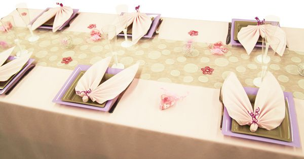 table rose, parme et gris  Dining & art de la table  Pinterest