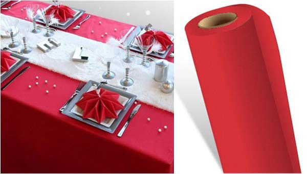 nappe en intiss rouge - Nappe Intiss Mariage