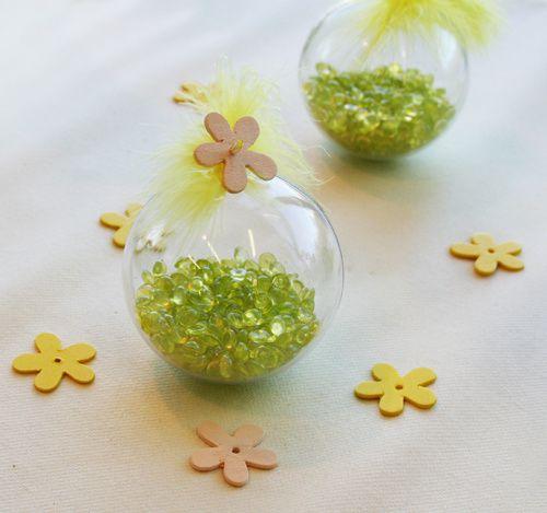 D coration de table vert jaune anis d corations f tes - Chemin de table fleurs naturelles ...