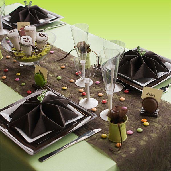 D cor de table chocolat et anis forum libre cuisine for Cuisine chocolat et vert anis