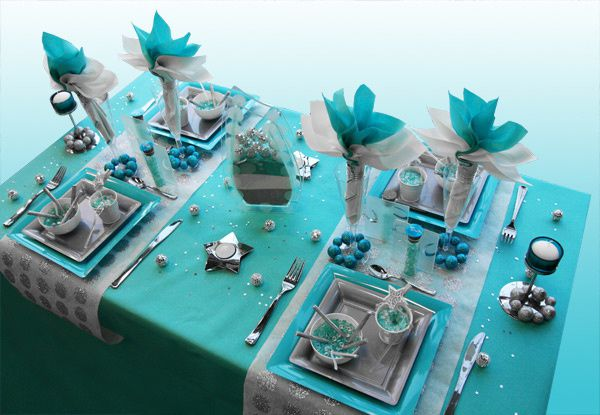 D co de table th me des les de l 39 exotisme de la mer - Decoration table reveillon jour de l an ...