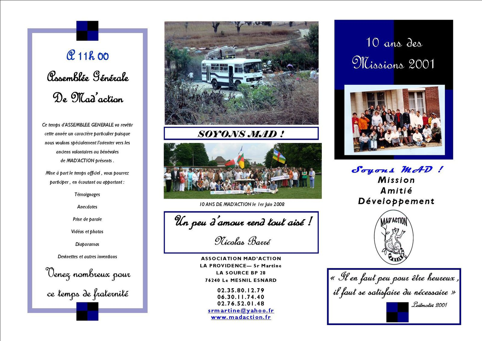Tract1 10 ans missions 2001