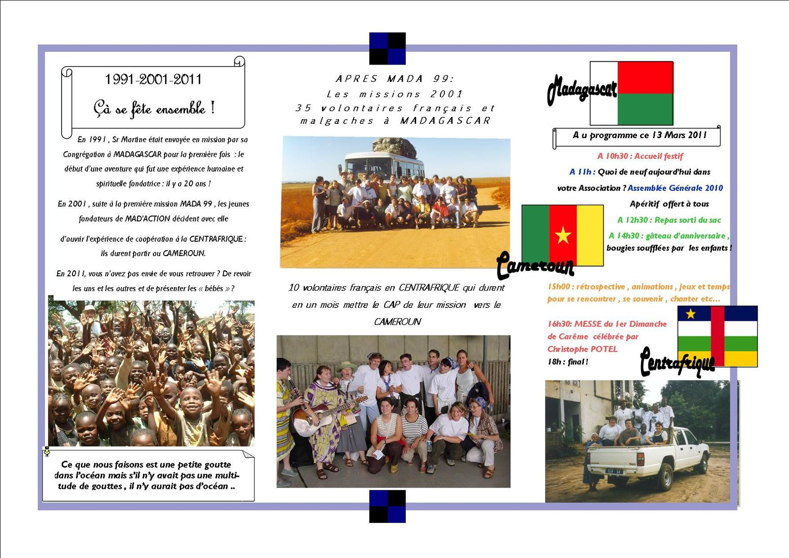Tract2 10 ans missions 2001
