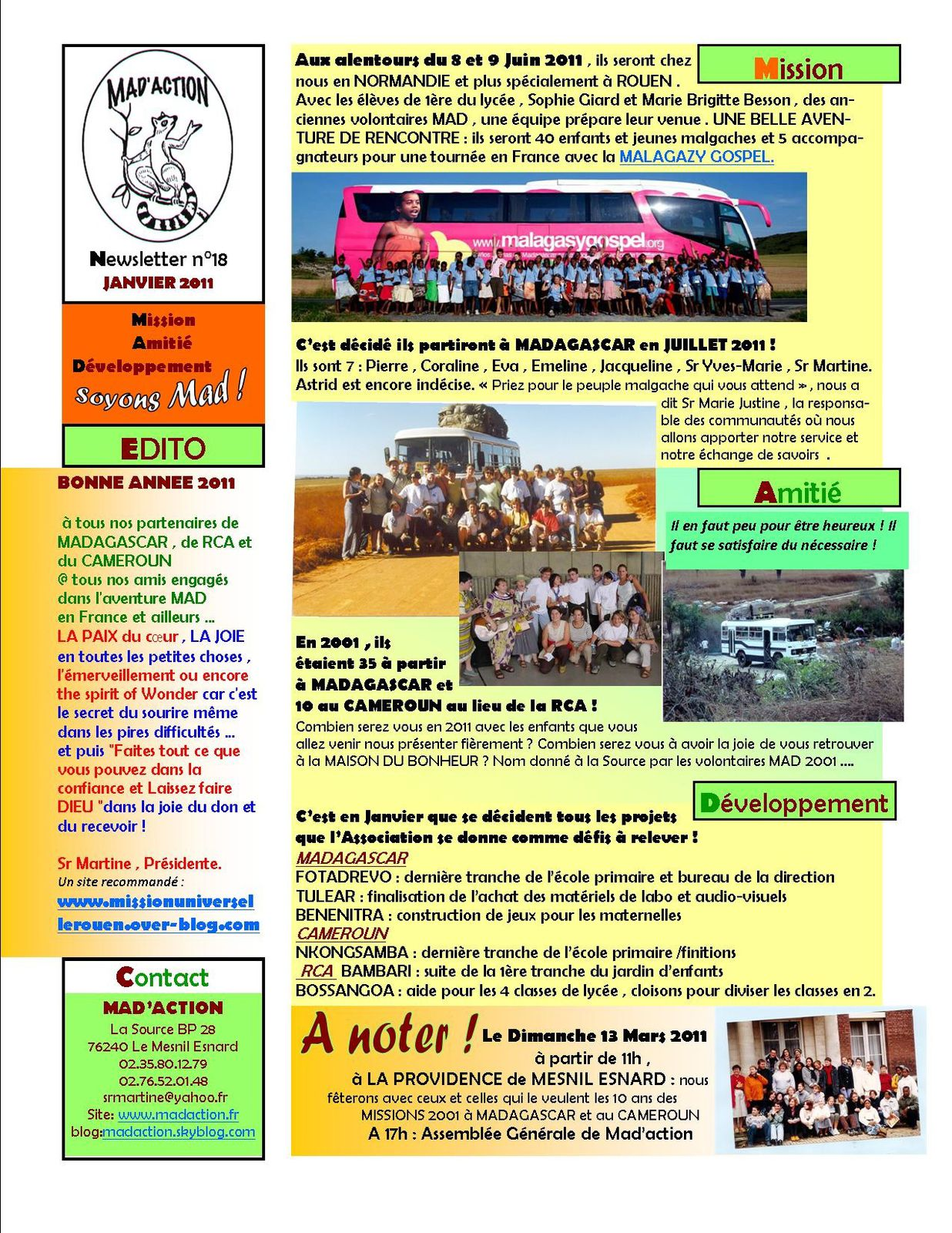 Newsletter MAD n°18 Janvier 2011